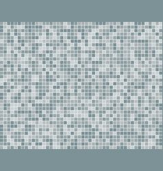 The silver grey square mosaic tiles background vector