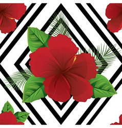 Tropic summer colorful flowers vector image