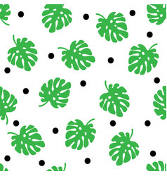 tropical trendy seamless pattern with palm leaves vector image