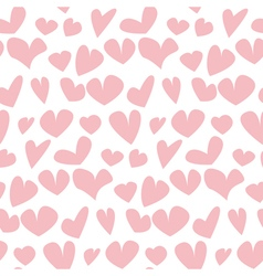 Valentine seamless pale polka dot pattern with vector