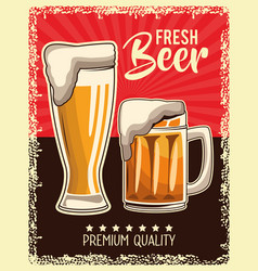 Vintage drink poster vector