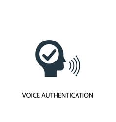 Voice authentication icon simple element vector