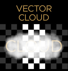 white cloud cloud vector image