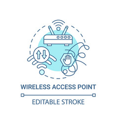 Wireless access point blue concept icon vector