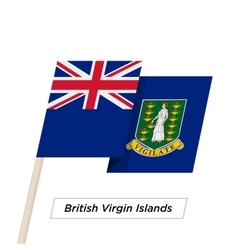 British virgin islands ribbon waving flag isolated vector