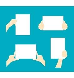 Cartoon Hands Paper Set vector image vector image