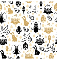 Easter angel pattern vector