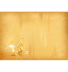 football old background vector image