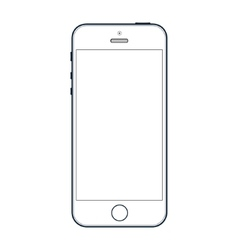 Realistic black iphone 5s with blank screen vector image
