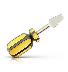 screwdriver icon vector image vector image