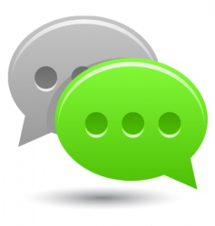 smooth chat bubbles vector image vector image