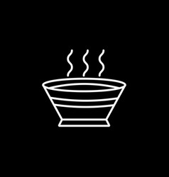 soup line icon food drink elements vector image