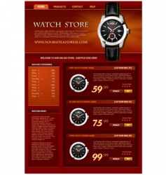 watch store web site vector image vector image