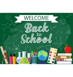 background from the school and education icons vector image vector image