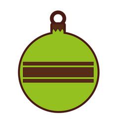 Christmas ball isolated icon vector