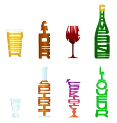 Figurative Typography Alcohol vector image vector image