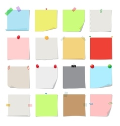 Note paper set vector