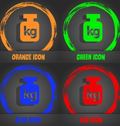 Weight icon Fashionable modern style In the orange vector image vector image
