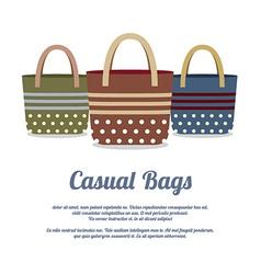 Set of Casual Handbags vector image vector image