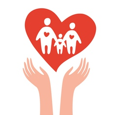 take care of family vector image