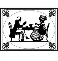 teatime vector image