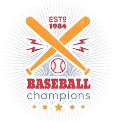 baseball vintage poster new vector image vector image