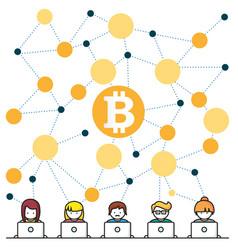 bitcoin money translations people vec vector image