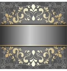 luxury background with golden patterns vector image