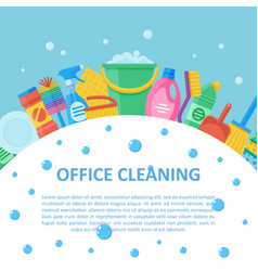 office cleaning professional service set vector image vector image