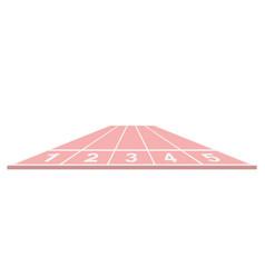 Running track in pink design vector