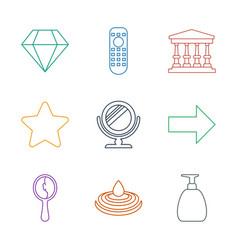 9 shiny icons vector