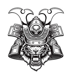 A tiger samurai vector
