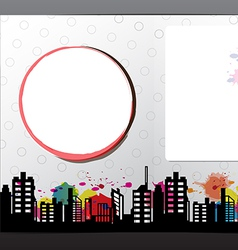 advertise layout brochure design vector image