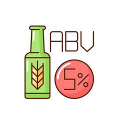 Alcohol volume rgb color icon vector