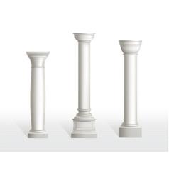 antique classic stone ornate roman greece pillars vector image