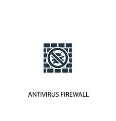 antivirus firewall icon simple element vector image