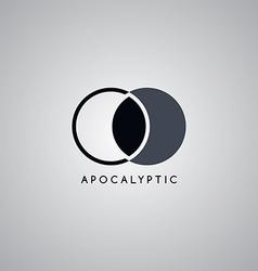 Apocalypse moon logo template vector