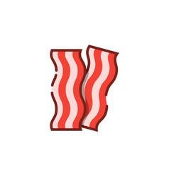 bacon stripe color outline icon vector image