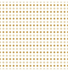 Beige and gold polka dots vector