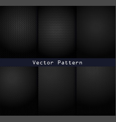 black metal patterns texture steel background vector image