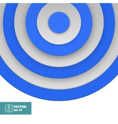 Blue Target on white vector