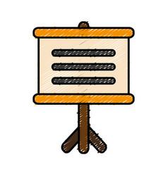 board presentation icon vector image