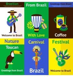 Brazil Mini Poster Set vector image