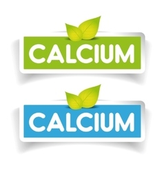 Calcium label set vector image