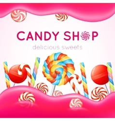 Candy Shop Poster vector