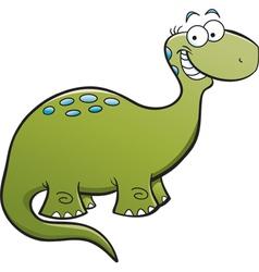 Cartoon brontosaurus vector