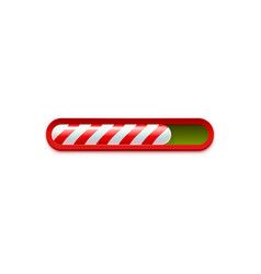 christmas loading red and green web progress bar vector image