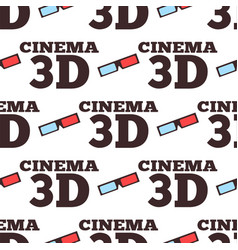 Cinema 3d movie entertainment vector