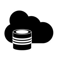 Cloud data base technology pictogram vector