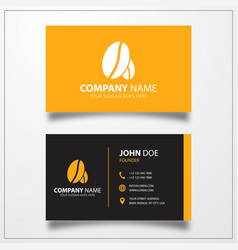 Coffee beans icon business card template vector